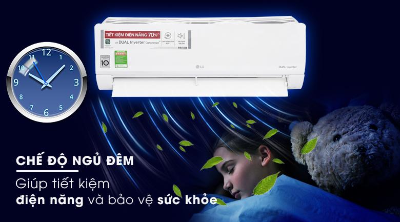 Chế độ ngủ đêm - Điều hòa LG Inverter 12000 BTU V13ENS