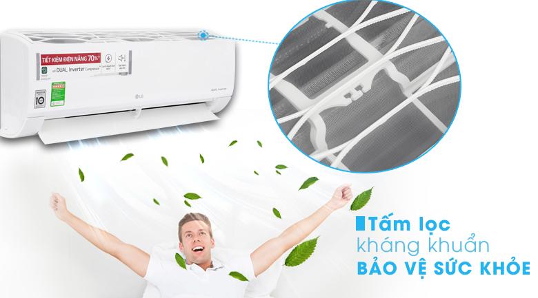Tấm lọc kháng khuẩn - Điều hòa LG Inverter 12000 BTU V13ENS