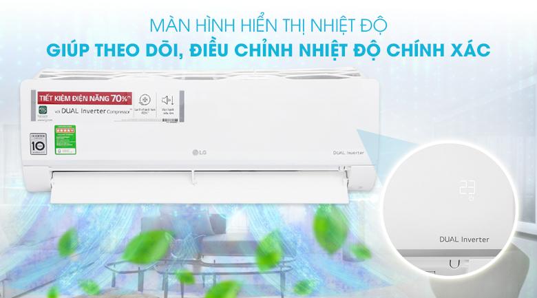 Máy lạnh LG Inverter 1.5 HP V13ENS - Màn hình hiển thị nhiệt độ
