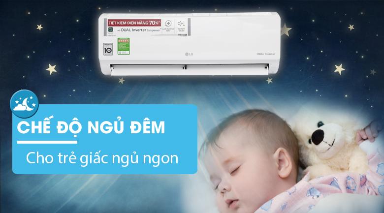Chế độ ngủ đêm - Máy lạnh LG Inverter 1 HP V10ENV