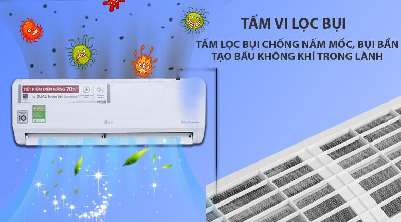 Tấm lọc vi bụi kháng khuẩn - Máy lạnh LG Inverter 1 HP V10ENV