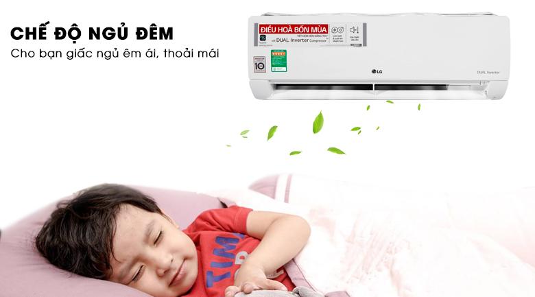Chế độ ngủ đêm - Máy lạnh 2 chiều LG Inverter 1 HP B10END