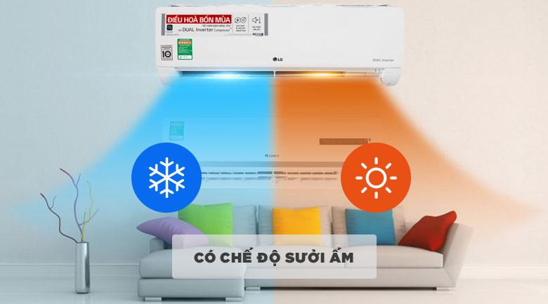 Điều hòa 2 chiều - Máy lạnh 2 chiều LG Inverter 1 HP B10END