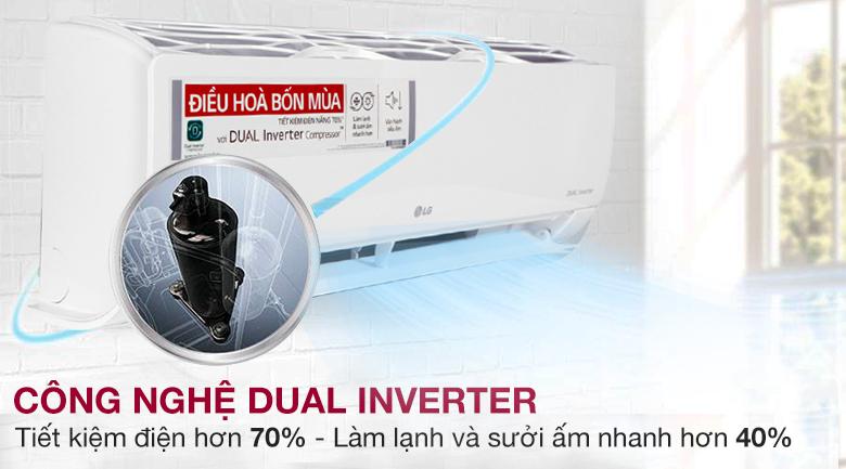 Dual Inverter - Máy lạnh 2 chiều LG Inverter 1.5 HP B13END