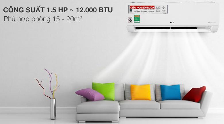 Công suất - Máy lạnh 2 chiều LG Inverter 1.5 HP B13END