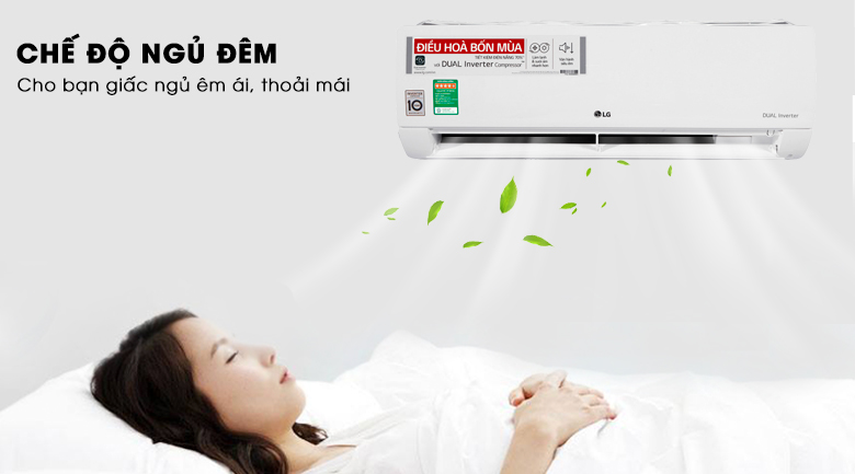Chế độ ngủ đêm - Máy lạnh 2 chiều LG Inverter 1.5 HP B13END