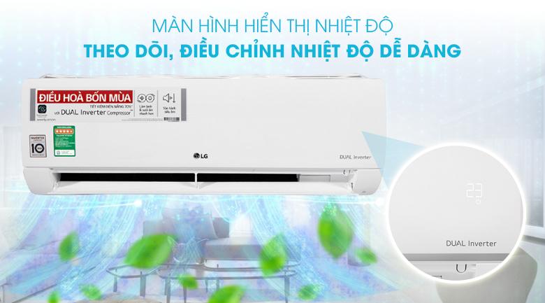Máy lạnh 2 chiều LG Inverter 1.5 HP B13END  - Màn hình hiển thị nhiệt độ