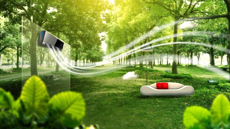 Công nghệ tạo ion mang lại bầu không khí trong lành, dễ chịu