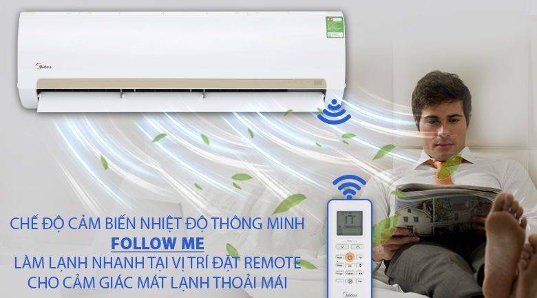 Follow me - Máy lạnh Midea 1 HP MSMA3-10CRN1