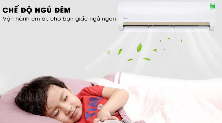 Chế độ ngủ ban đêm - Máy lạnh Midea 2 HP MSMA3-18CRN1