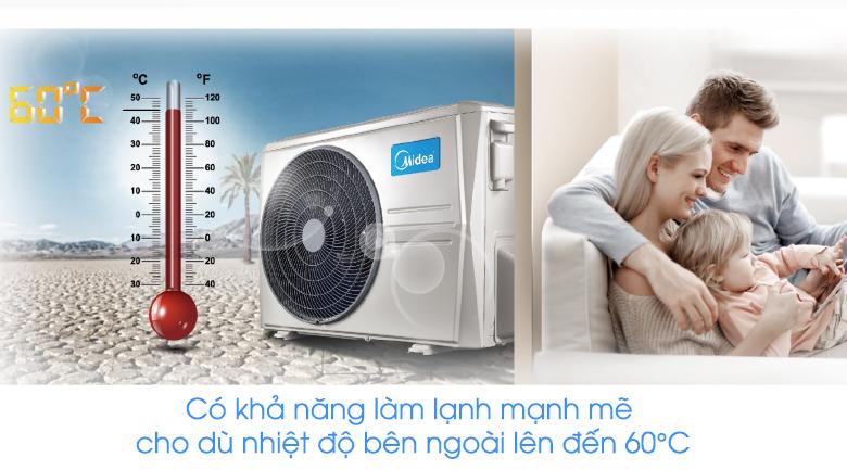 Dàn nóng có khả năng vận hành mạnh mẽ - Máy lạnh 2 chiều Midea Inverter 1.5 HP MSMT-13HRFN8