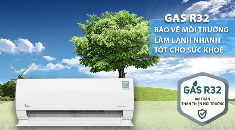 Gas R32 - Máy lạnh 2 chiều Midea Inverter 1.5 HP MSMT-13HRFN8