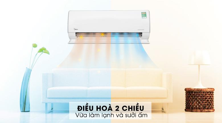 Máy lạnh 2 chiều Midea Inverter 1.5 HP MSMT-13HRFN8