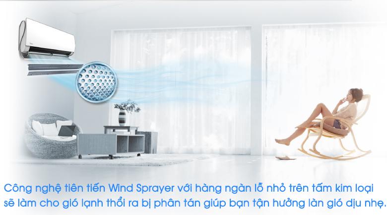 Wind Sprayer - Máy lạnh 2 chiều Midea Inverter 1.5 HP MSMT-13HRFN8