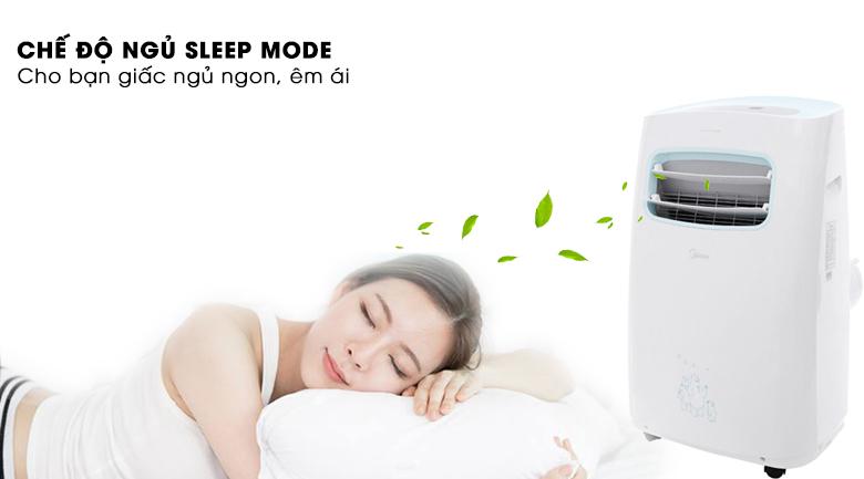 Chế độ khi ngủ - Máy lạnh di động mini Midea 1 HP MPPF-10CRN1