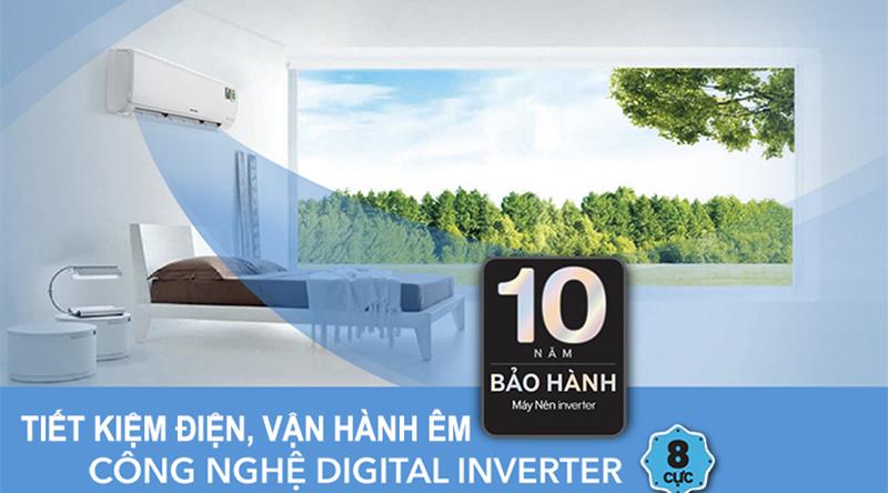 Công nghệ Digital Inverter tiết kiệm điện năng tiêu thụ