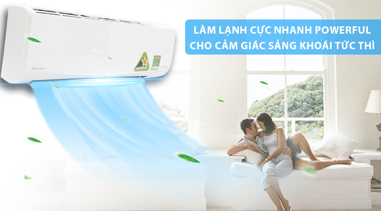 Powerful - Máy lạnh Daikin Inverter 1 HP FTKQ25SVMV