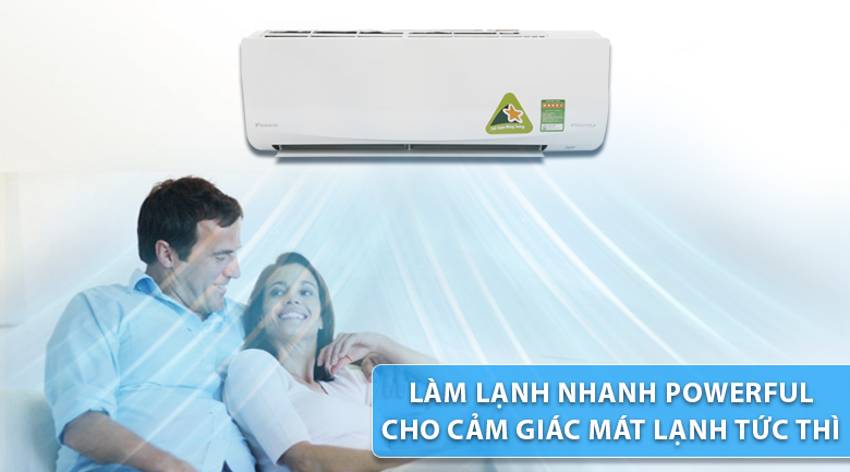 Powerful - Máy lạnh Daikin Inverter 1.5 HP FTKQ35SVMV