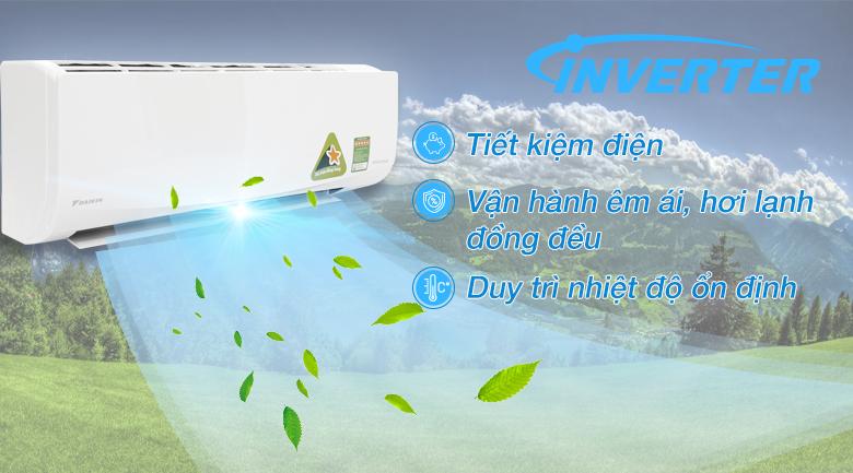 Inverter - Máy lạnh Daikin Inverter 1.5 HP FTKQ35SVMV
