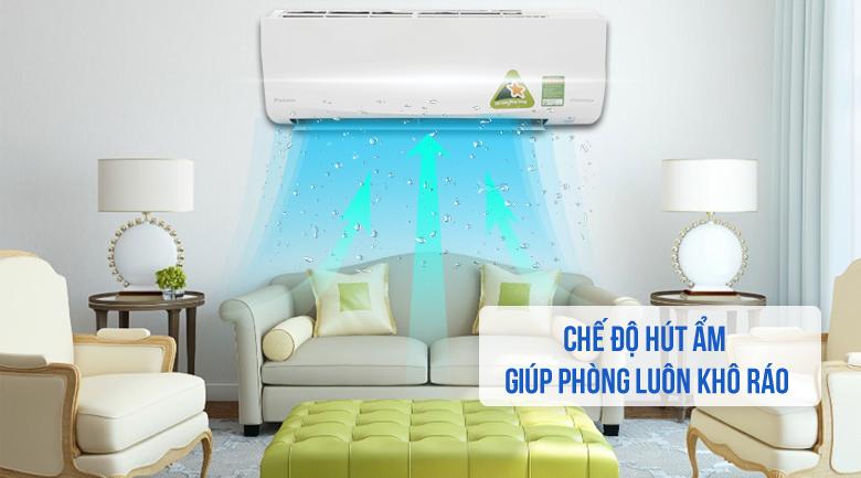 Chế độ hút ẩm - Máy lạnh Daikin Inverter 1.5 HP FTKQ35SVMV