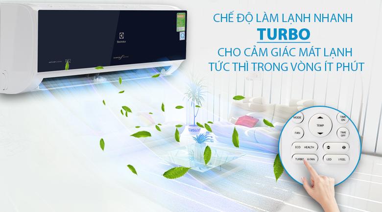Chế độ Turbo - Máy lạnh Electrolux Inverter 1 HP ESV09CRO-D1
