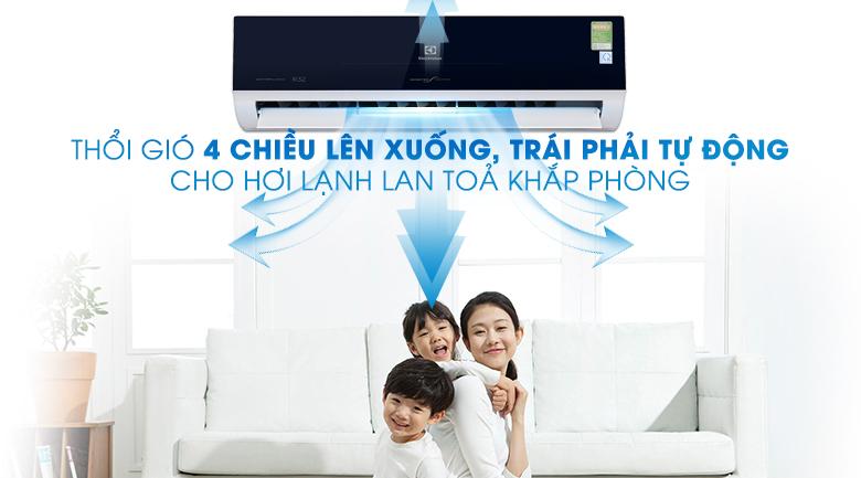 Chế độ thồi gió 4 chiều - Máy lạnh Electrolux Inverter 2 HP ESV18CRO-D1