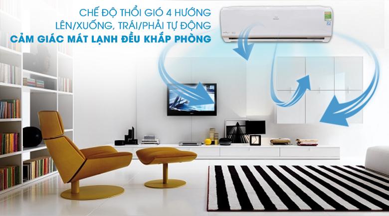 Thổi gió 4 chiều - Máy lạnh Electrolux Inverter 1 HP ESV09CRO-A1