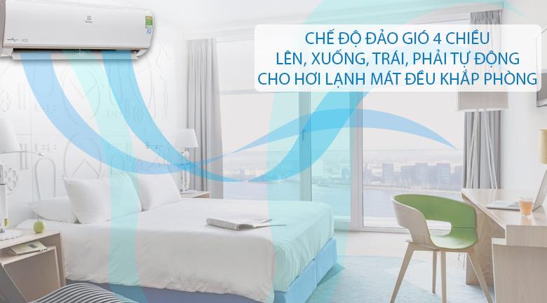 Thổi gió 4 chiều - Máy lạnh Electrolux Inverter 1.5 HP ESV12CRO-A1