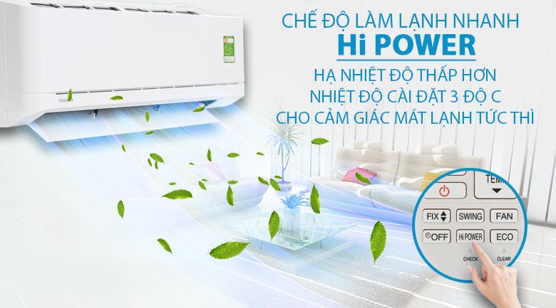 Hi Power - Máy lạnh Toshiba 1 HP RAS-H10U2KSG-V