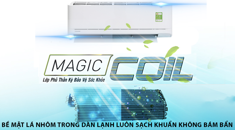 Magic Coil - Máy lạnh Toshiba 1 HP RAS-H10U2KSG-V