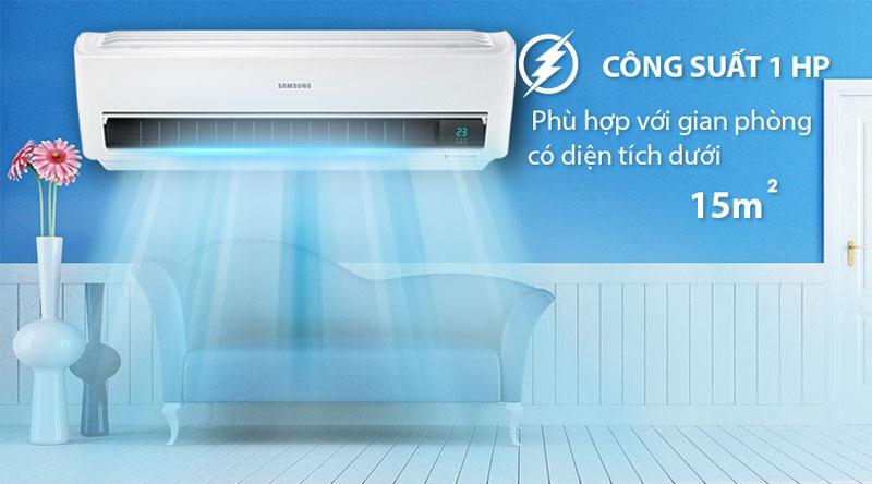 Thiết kế tam diện, kiểu dáng hiện đại - Máy lạnh Samsung Inverter 1 HP AR10NVFXAWKNSV