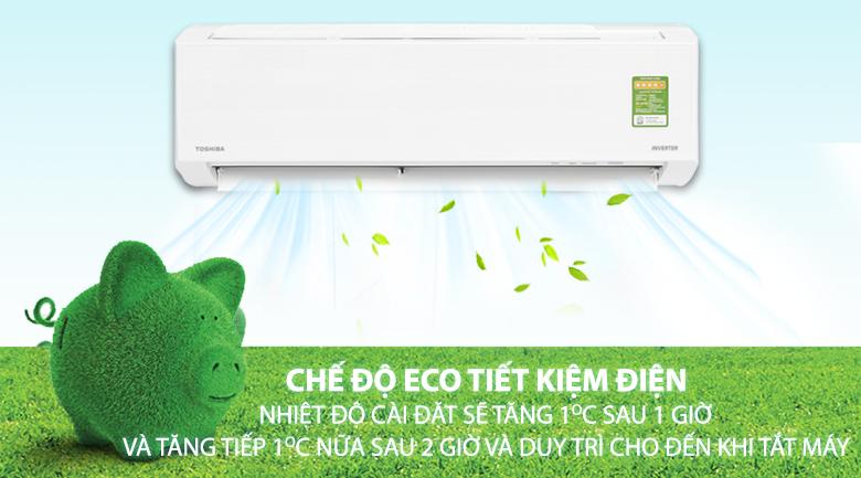 Eco - Máy lạnh Toshiba Inverter 1 HP RAS-H10DKCVG-V