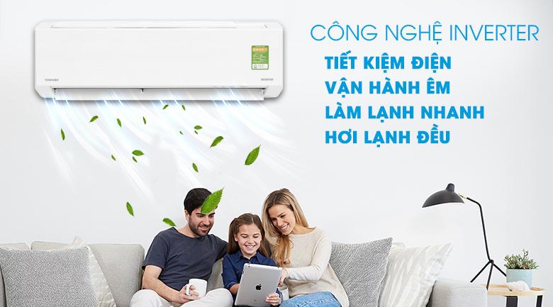 Inverter - Máy lạnh Toshiba Inverter 1 HP RAS-H10DKCVG-V