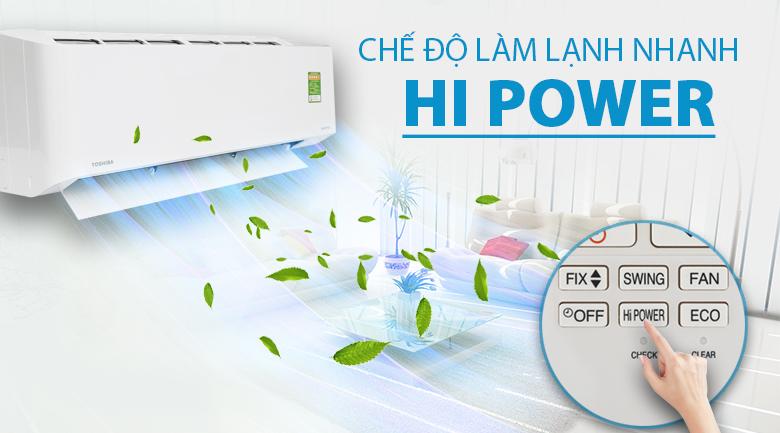 Hi Power - Máy lạnh Toshiba Inverter 1.5 HP RAS-H13CKCVG-V