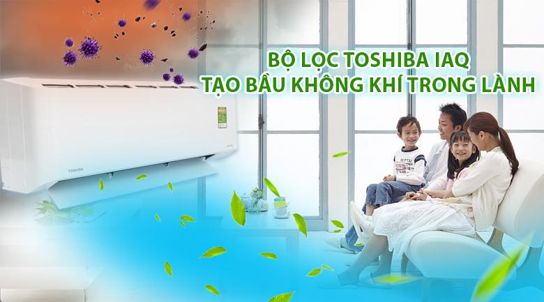 Bộ lọc Toshiba IAQ - Máy lạnh Toshiba Inverter 1.5 HP RAS-H13CKCVG-V