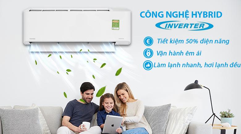 Công nghệ Hybrid Inverter - Máy lạnh Toshiba Inverter 1 HP RAS-H10PKCVG - V