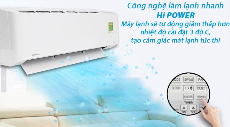 Làm lạnh nhanh - Máy lạnh Toshiba Inverter 1 HP RAS-H10PKCVG - V