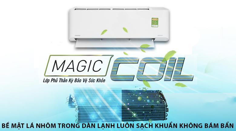 Magic Coil - Máy lạnh Toshiba Inverter 1 HP RAS-H10PKCVG - V