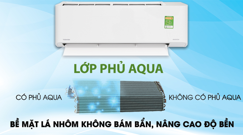 Magic Coil - Máy lạnh Toshiba Inverter 1 HP RAS-H10PKCVG - V