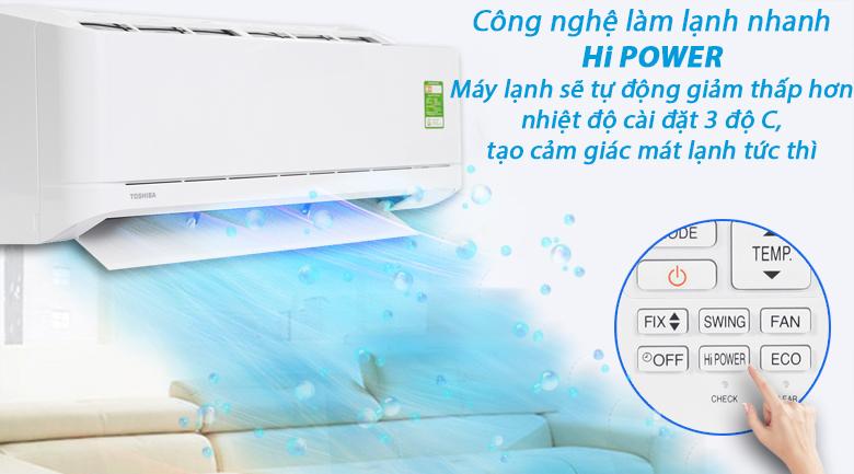 Công nghệ Hi Power - Máy lạnh Toshiba 2 HP RAS-H18U2KSG-V