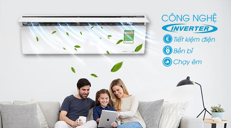 Inverter - Máy lạnh Panasonic Inverter 1 HP CU/CS-VU9UKH-8