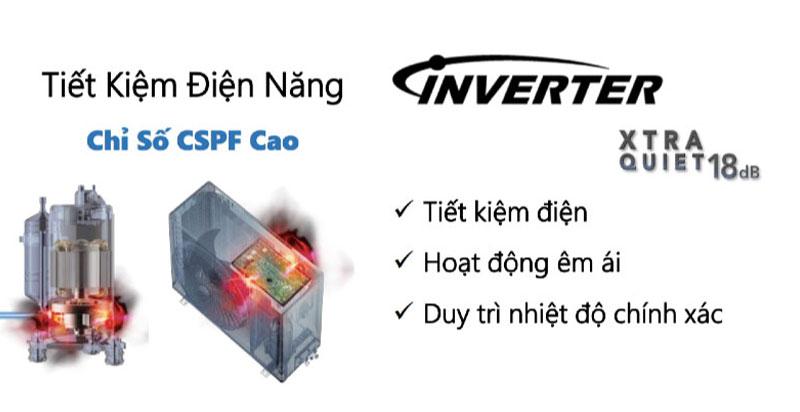 Tiết kiệm điện tối ưu nhờ công nghệ biến tần Inverter