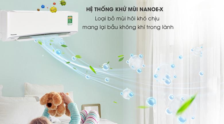 Công nghệ kháng khuẩn khử mùi Nanoe X - Máy lạnh Panasonic Inverter 1 HP CU/CS-XU9UKH-8