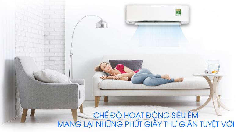Hoạt động siêu êm - Máy lạnh Panasonic Inverter 1.5 HP CU/CS-XU12UKH-8