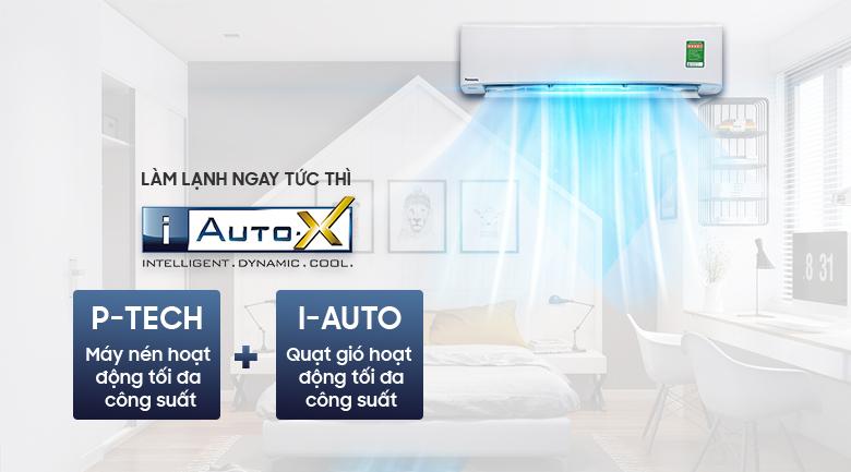 Chế độ làm lạnh nhanh iAutoX - Máy lạnh Panasonic Inverter 2 HP CU/CS-XU18UKH-8