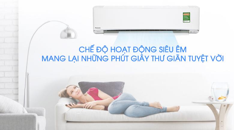 Hoạt động siêu êm - Máy lạnh Panasonic Inverter 2 HP CU/CS-XU18UKH-8