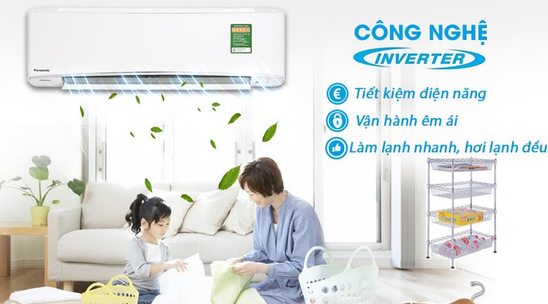 Công nghệ Inverter - Máy lạnh Panasonic Inverter 2.5 HP CU/CS-XU24UKH-8