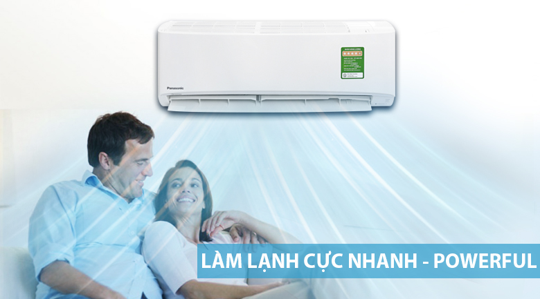 Powerful - Máy lạnh Panasonic Inverter 1 HP CU/CS-PU9UKH-8