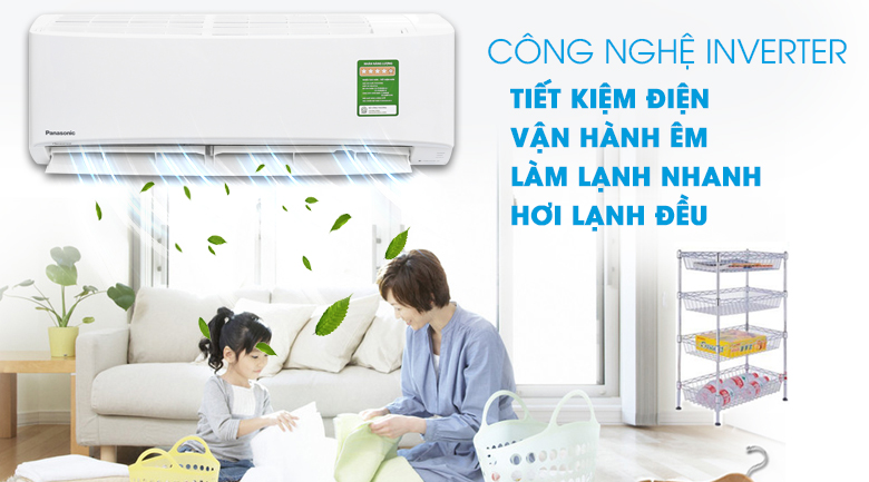 Inverter - Máy lạnh Panasonic Inverter 1 HP CU/CS-PU9UKH-8