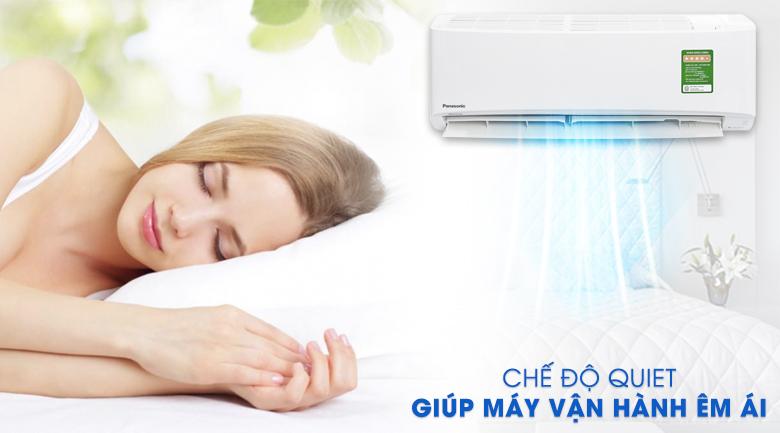 Hoạt động siêu êm - Máy lạnh Panasonic Inverter 1 HP CU/CS-PU9UKH-8